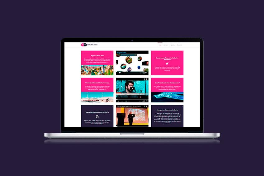 diseño web Catalunya Dades