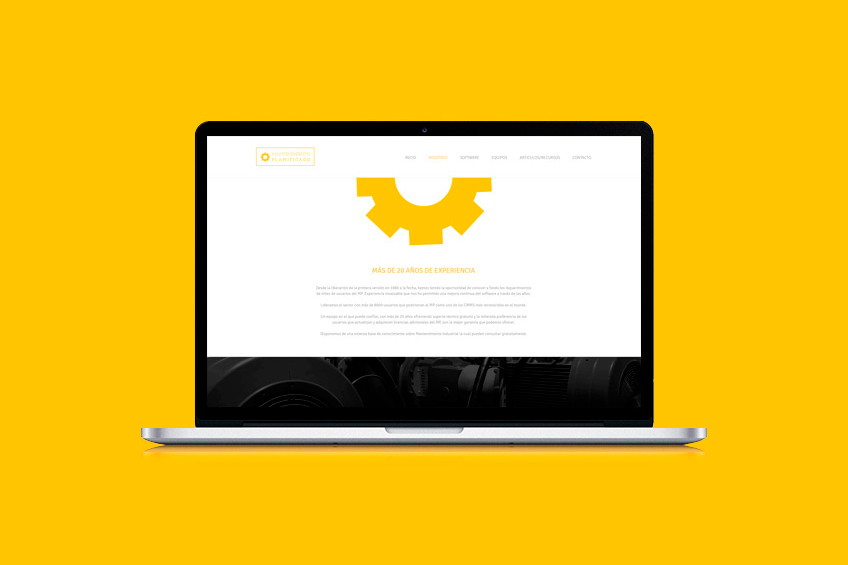 diseño web Mantenimiento Planificado