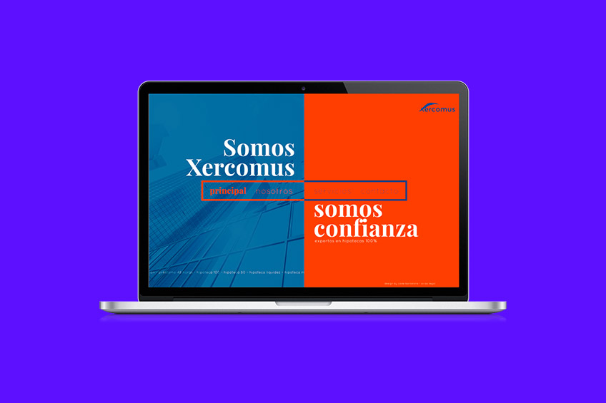 diseño web Xercomus