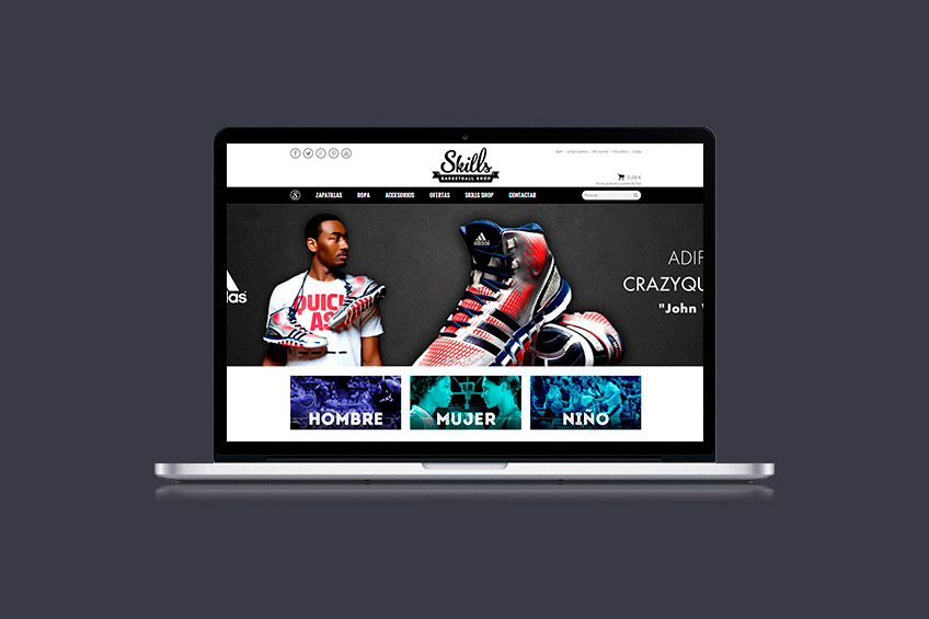diseño web Skills shop