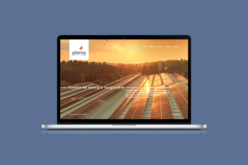 diseño web Alterna Energía