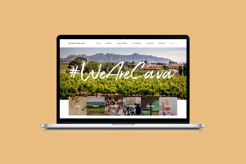 diseño web Institut del cava