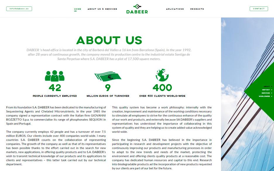 diseño web barcelona dabeer