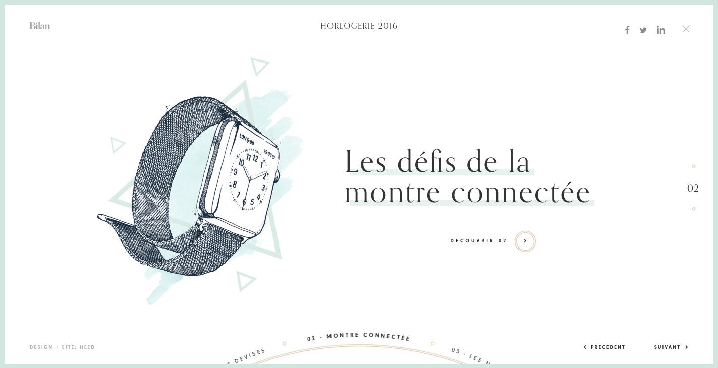 diseno web - horlogerie 2016