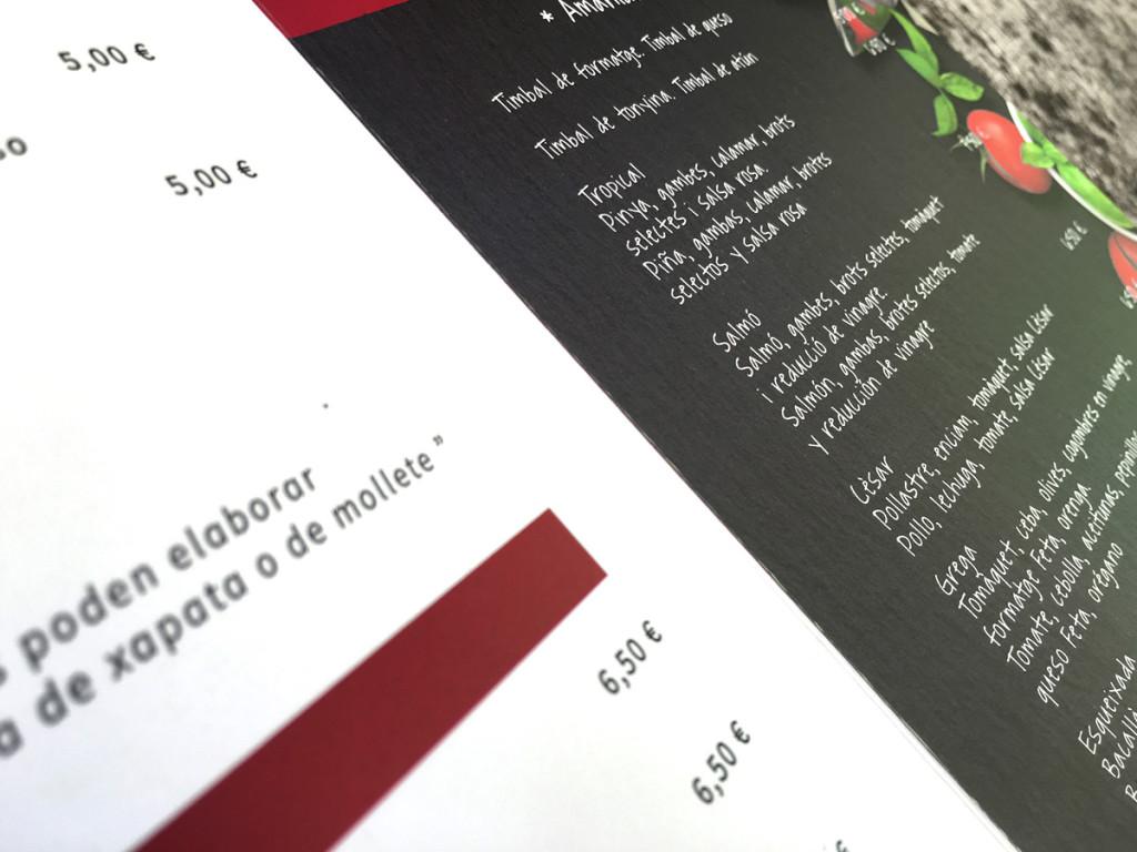 diseño grafico Diseño de carta & branding     5