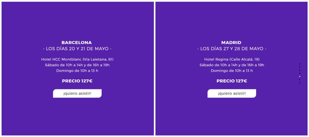 diseño del menú web