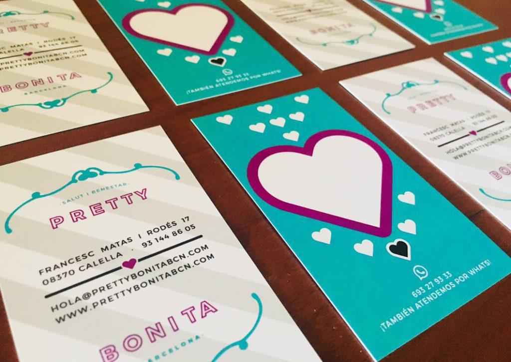 tarjetas de visita para centro estetico