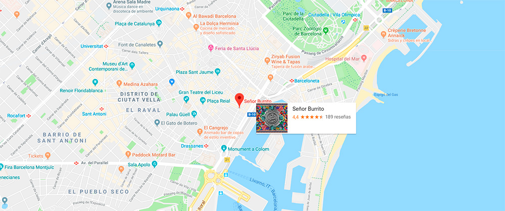 senor burrito mapa