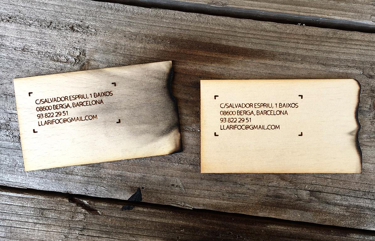 diseño grafico  Tarjetas de madera     8