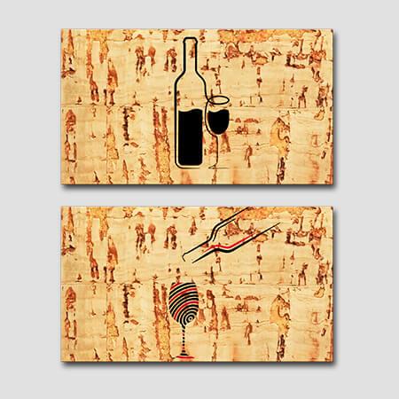 Modelos de tarjetas de visita -corcho