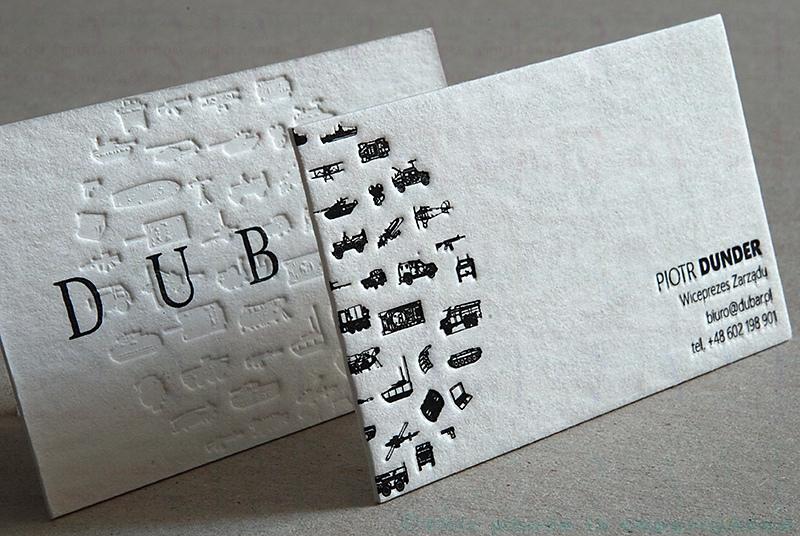 Modelos de tarjetas de visita -golpe seco - termograbado
