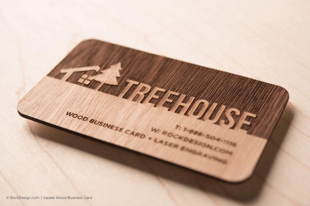 Modelos de tarjetas de visita -madera