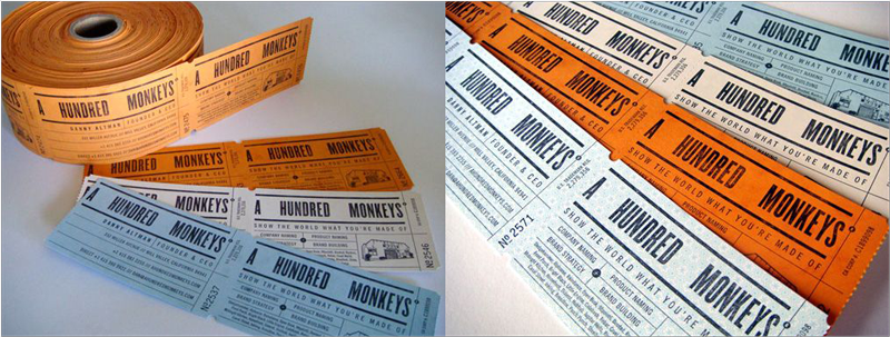Modelos de tarjetas de visita - perforado